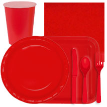 Ruby Red Tableware
