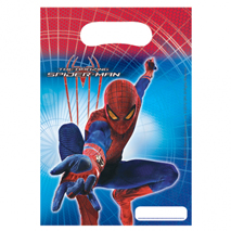 Amazing Spider-Man Party Loot Bags (6 Pack)