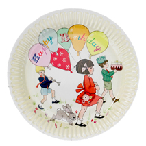 Belle and Boo Paper Party Plates (Pack of 8)