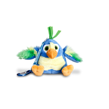 Crackers Parrot Keychain 8cm (Blue)