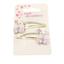 Bunny Rabbit Hair Clips (1 pair)