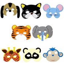 Foam Animal Masks (8 masks)
