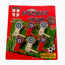 Football Rattles (England) 6 pack