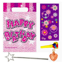 Girls Happy Birthday Pre Filled Party Bag (4 fillers)