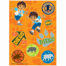 Go Diego Go Stickers (8 Sheets)