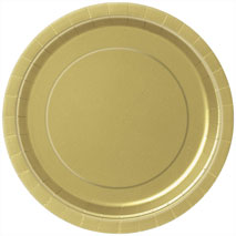 Gold Paper Plates (16 Pack) - 23cm