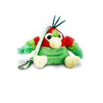 Crackers Parrot Keychain 8cm (Green)