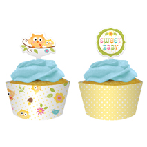 Happi Tree Sweet Baby Cupcake Wraps &amp; Picks