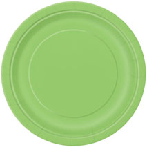 Lime Green Paper Party Plates (16 Pack) - 23cm