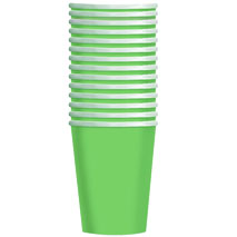 Lime Green Paper Party Cups (14 Pack)