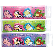 Little Farm Animal Erasers (4 Pack)