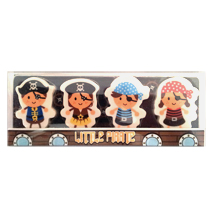 Little Pirates Erasers (4 Pack)