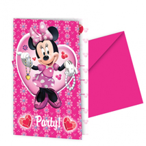 Minnie Mouse Party Invitation Cards (6 Pack)