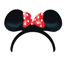 Minnie Mouse Polka Dot Card Ears on Headbands (4 Pack)