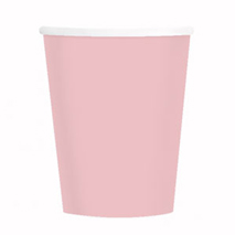 Pastel Pink Paper Party Cups (14 Pack)