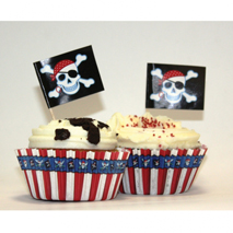 Pirate Cupcake Cases with Picks