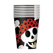 Pirate Fun Paper Party Cups (8 Pack)