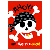 Pirate Fun Party Invitations (8 Pack)