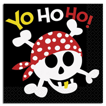 Pirate Fun Party Napkins (16 Pack)