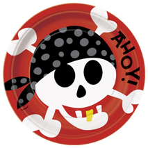 Pirate Fun Party Plates 23cm (8 Pack)