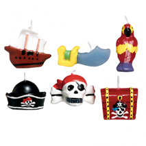 Pirates Treasure Moulded Cake Candles