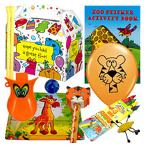 Pre Filled Animal Fun Party Box (10 items)