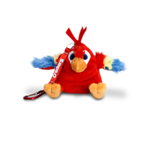 Crackers Parrot Keychain 8cm (Red)