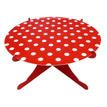 Red Spotty Cake Stand