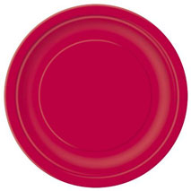 Ruby Red Paper Party Plates (23 cm)
