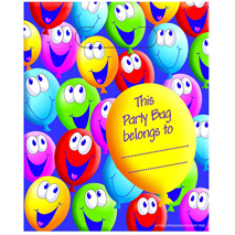 Smiley Balloons Loot Bags (8 pack)