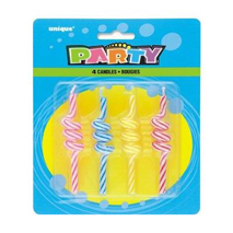 Striped Coil Candles (4 Pack)