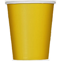 Sunflower Yellow Paper Party Cups (14 Pack)