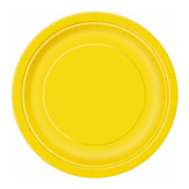 Sunflower Yellow Paper Party Plates (16 Pack) - 23cm