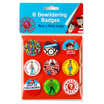 Where's Wally Bewildering Badges (9 pack)