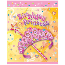 Birthday Princess Loot Bags (8 pack)